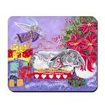 Rabbit Christmas Wish Mousepad