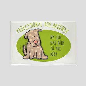 Funny Dog Groomer Rectangle Magnet