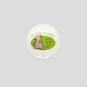 Funny Dog Groomer Mini Button