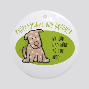 Funny Dog Groomer Ornament (Round)