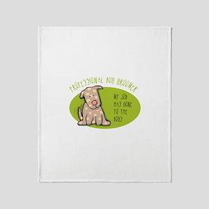 Funny Dog Groomer Throw Blanket