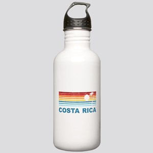 Retro Costa Rica Palm Tree Stainless Water Bottle