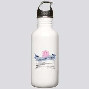 Chauvinistic Vegan Female Pig Stainless Water Bott