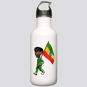 Cute 3D Ethiopia Stainless Water Bottle 1.0L