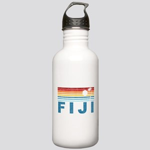 Retro Fiji Palm Tree Stainless Water Bottle 1.0L