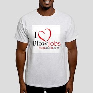 I Love Blowjobs! Ash Grey T-Shirt
