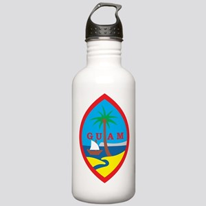 Guam Coat Of Arms Stainless Water Bottle 1.0L