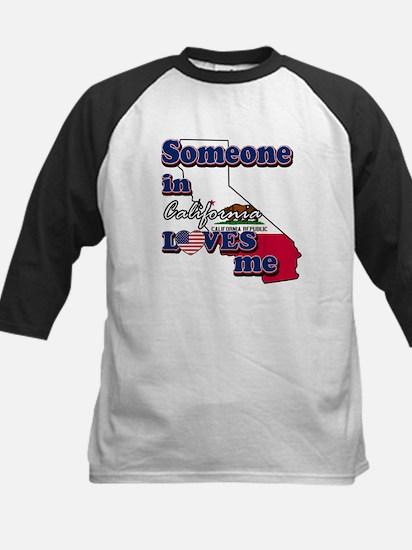 someone in california loves me Kids Baseball Jerse