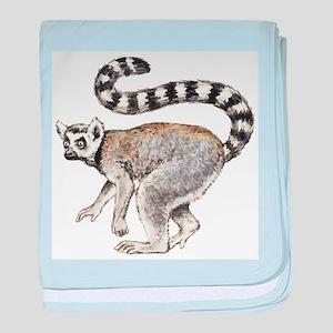 Ring-tailed Lemur baby blanket