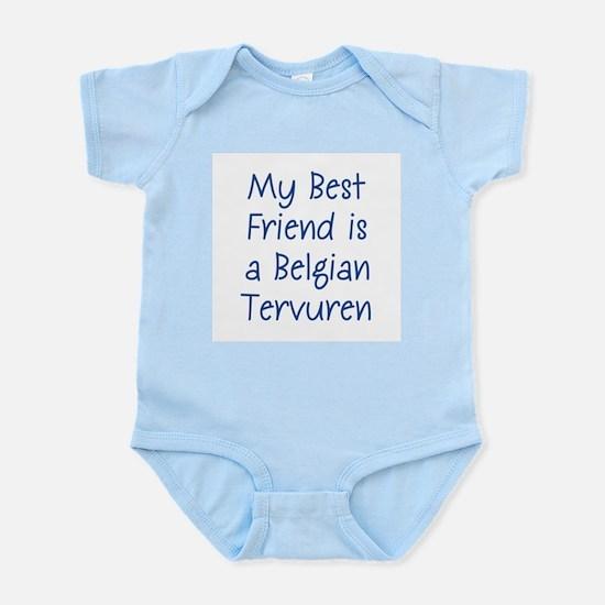 My Best Friend is a Belgian T Infant Creeper