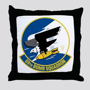 69th Bomb Squadron Throw Pillow