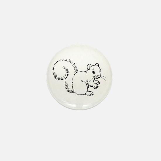 Cute Squirrel T-shirts Gifts Mini Button