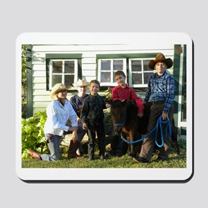 4 4-H Cowboys & a Lone 4-H Cowgirl Mousepad