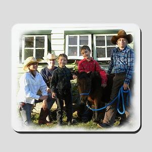 4 4-H Cowboys & a Lone 4-H Cowgirl (fuzzy edges) M