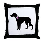 Greyhound Breast Cancer Supp Throw Pillow