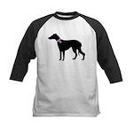 Greyhound Breast Cancer Supp Kids Baseball Jersey