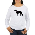Greyhound Breast Cancer Supp Women's Long Sleeve T