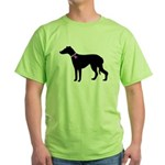 Greyhound Breast Cancer Supp Green T-Shirt