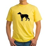 Greyhound Breast Cancer Supp Yellow T-Shirt