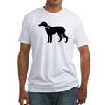 Greyhound Breast Cancer Supp Fitted T-Shirt