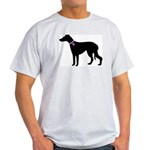 Greyhound Breast Cancer Supp Light T-Shirt
