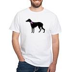 Greyhound Breast Cancer Supp White T-Shirt