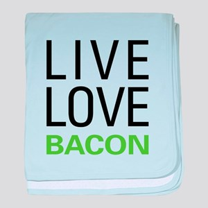 Live Love Bacon baby blanket