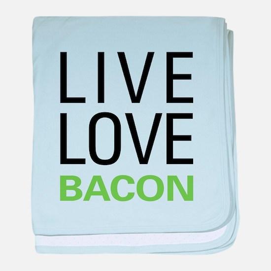 Live Love Bacon baby blanket