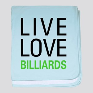 Live Love Billiards baby blanket