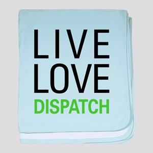 Live Love Dispatch baby blanket