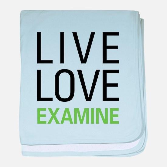 Live Love Examine baby blanket