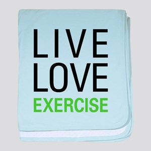 Live Love Exercise baby blanket