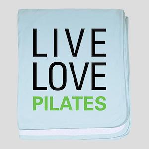 Live Love Pilates baby blanket