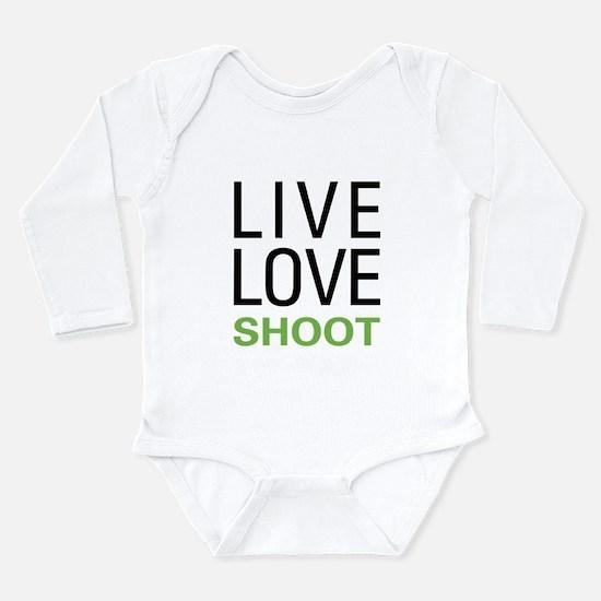 Live Love Shoot Long Sleeve Infant Bodysuit