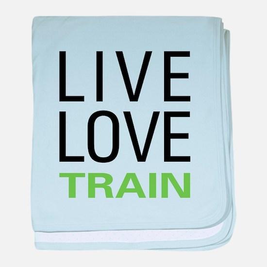 Live Love Train baby blanket