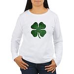 Grunge Shamrock Women's Long Sleeve T-Shirt