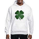Grunge Shamrock Hooded Sweatshirt