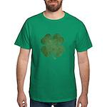 Grunge Shamrock Dark T-Shirt