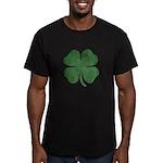 Grunge Shamrock Men's Fitted T-Shirt (dark)
