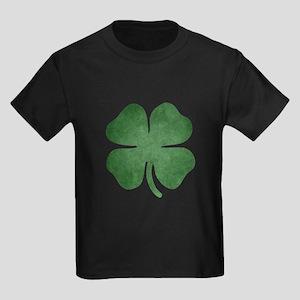 Grunge Shamrock Kids Dark T-Shirt