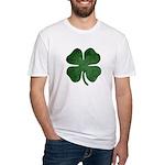 Grunge Shamrock Fitted T-Shirt