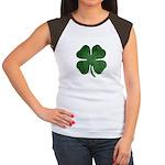 Grunge Shamrock Women's Cap Sleeve T-Shirt