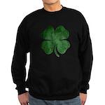 Grunge Shamrock Sweatshirt (dark)