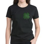 Grunge Shamrock Women's Dark T-Shirt