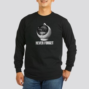 Never Forget Weltron 8-Track Long Sleeve Dark T-Sh