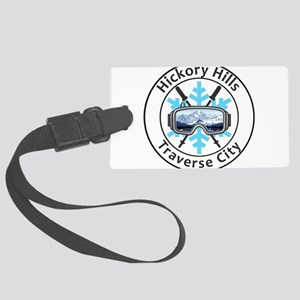 Hickory Hills Ski Area - Trave Large Luggage Tag