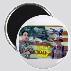 Female Veteran Pride Magnet