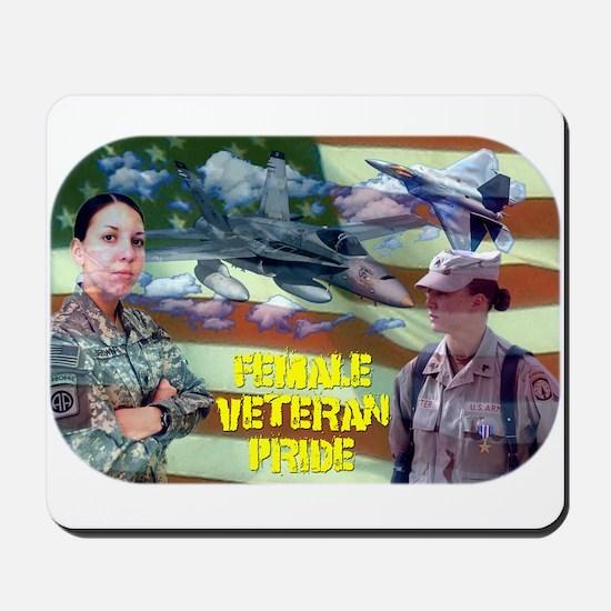 Female Veteran Pride Mousepad