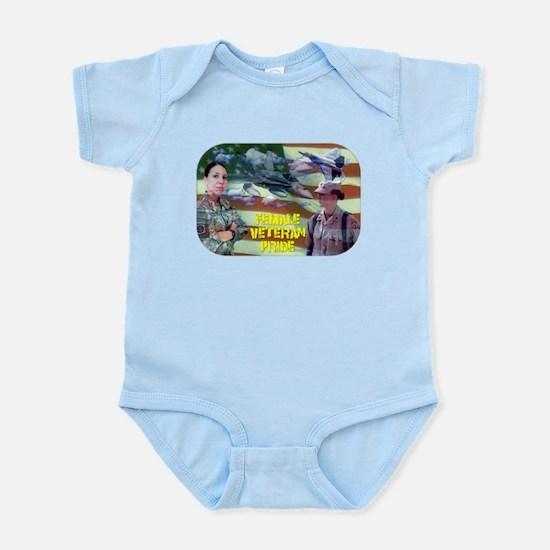 Female Veteran Pride Infant Bodysuit