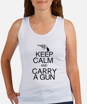Keep Calm and Carry a Gun Women's Tank Top